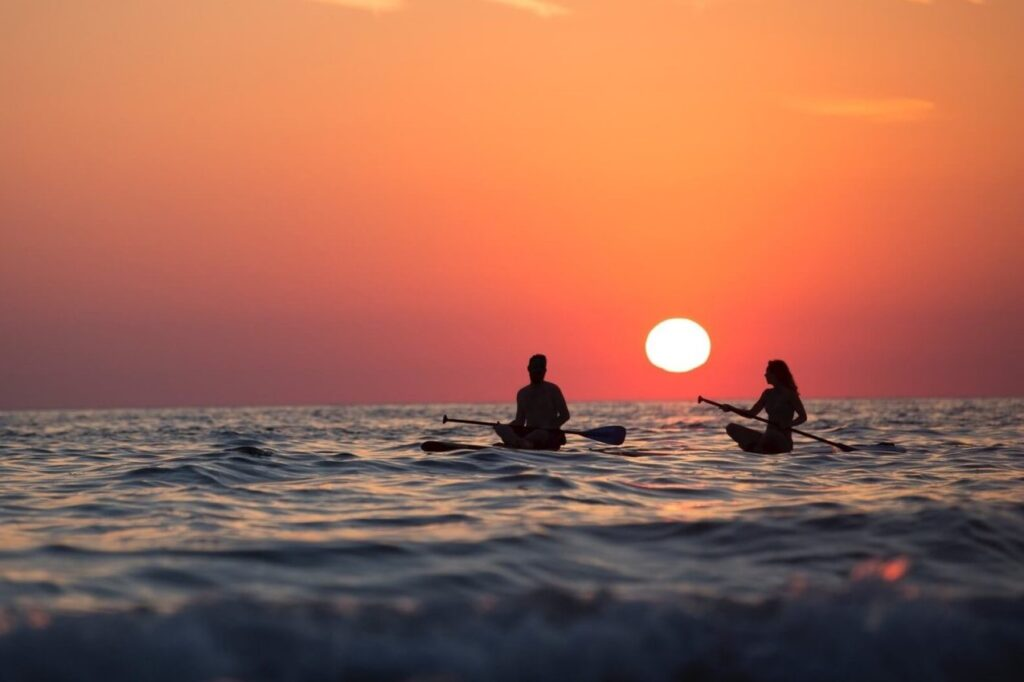 stand-up-paddle-board atardecer